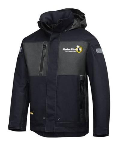 Winterjacke (gefüttert) mit RS-Logo, schwarz
