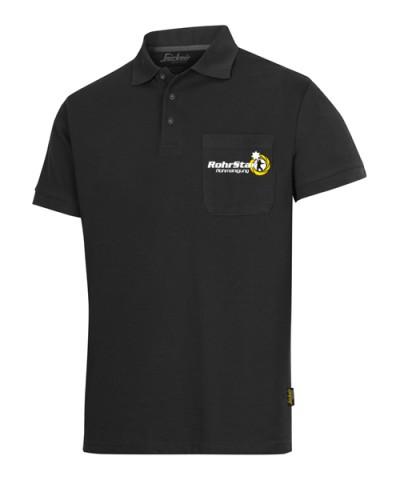 Poloshirt mit RS-Logo Brust, schwarz