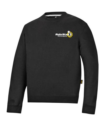 Sweatshirt mit Logo Brust, schwarz